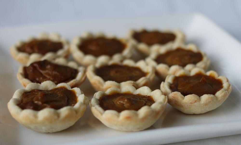 vegan pumpkin tartlets