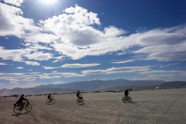 Burning Man Bikers