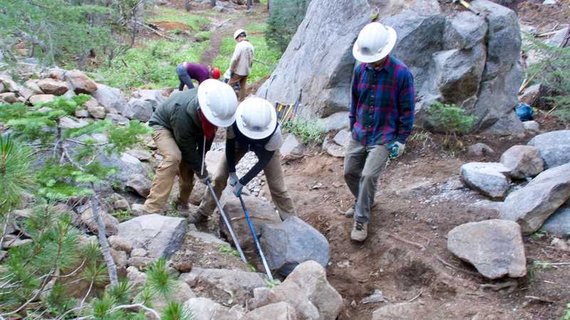 Trail crew working on the PCT