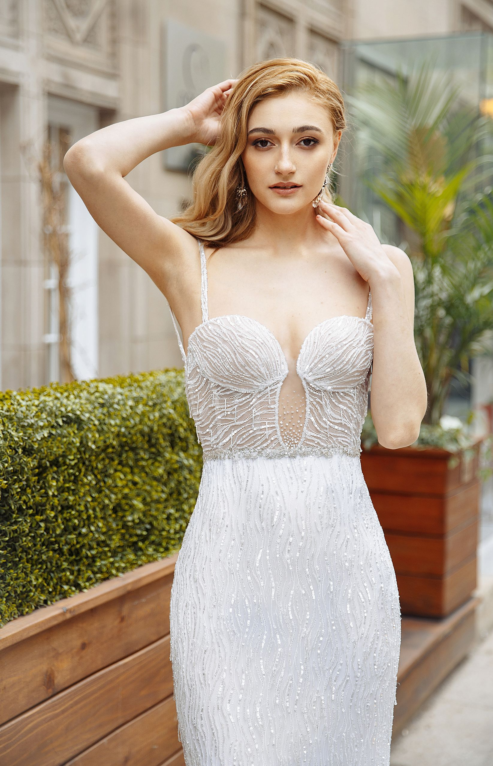 crystal embroidery wedding gown montreal