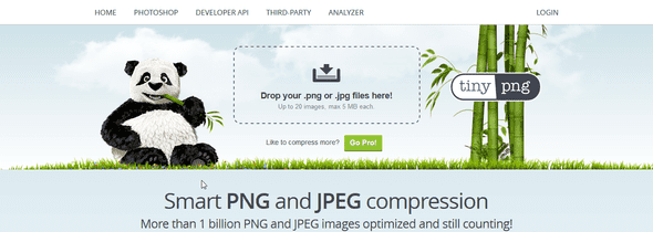 TinyPNG, online image optimizer.