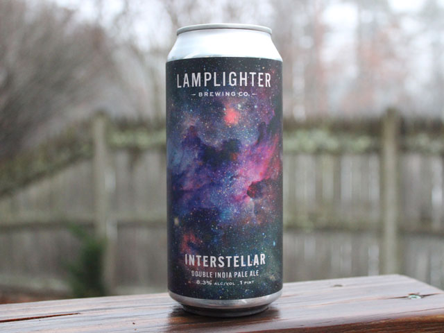 Interstellar, a Double IPA brewed by Lamplighter Brewing Company