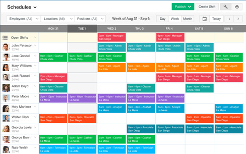 Employee Schedule Maker - Staff Management | Ximble