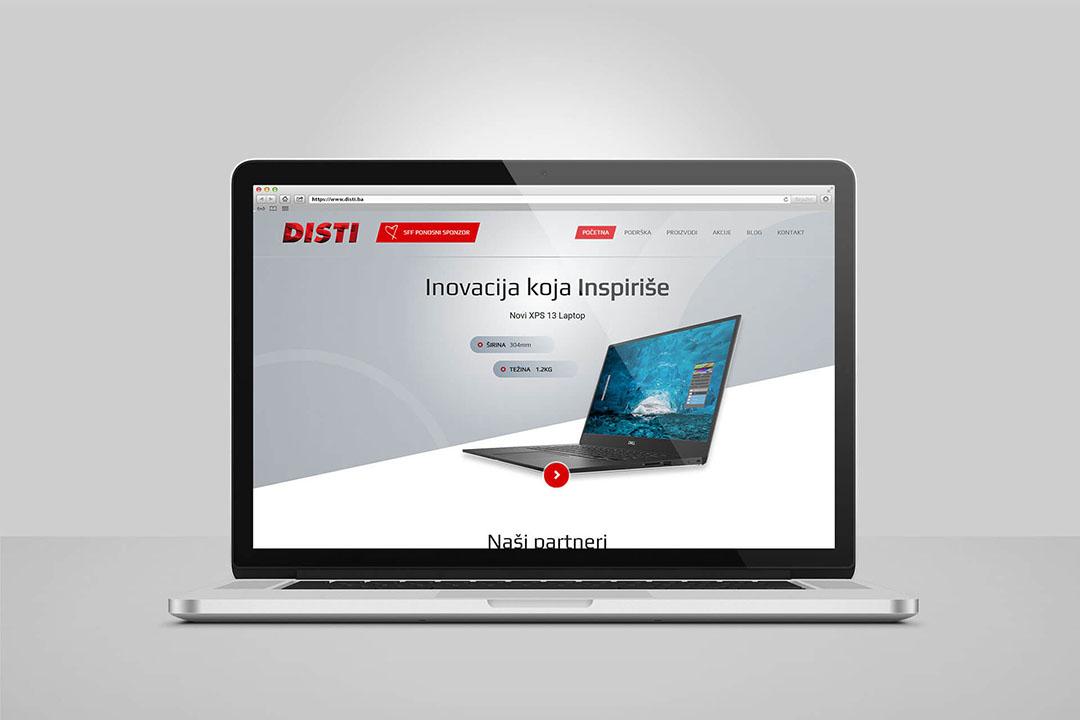 Project Disti - IT equipment, Website Design, Programming