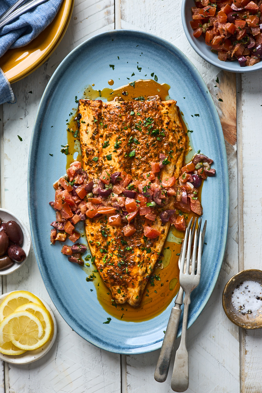 King Fish in Provencale sauce