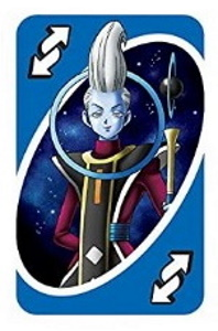 Dragon Ball Super Blue Uno Reverse Card