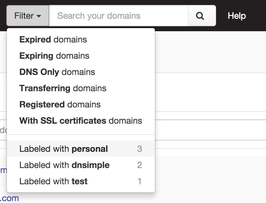 Domain live search