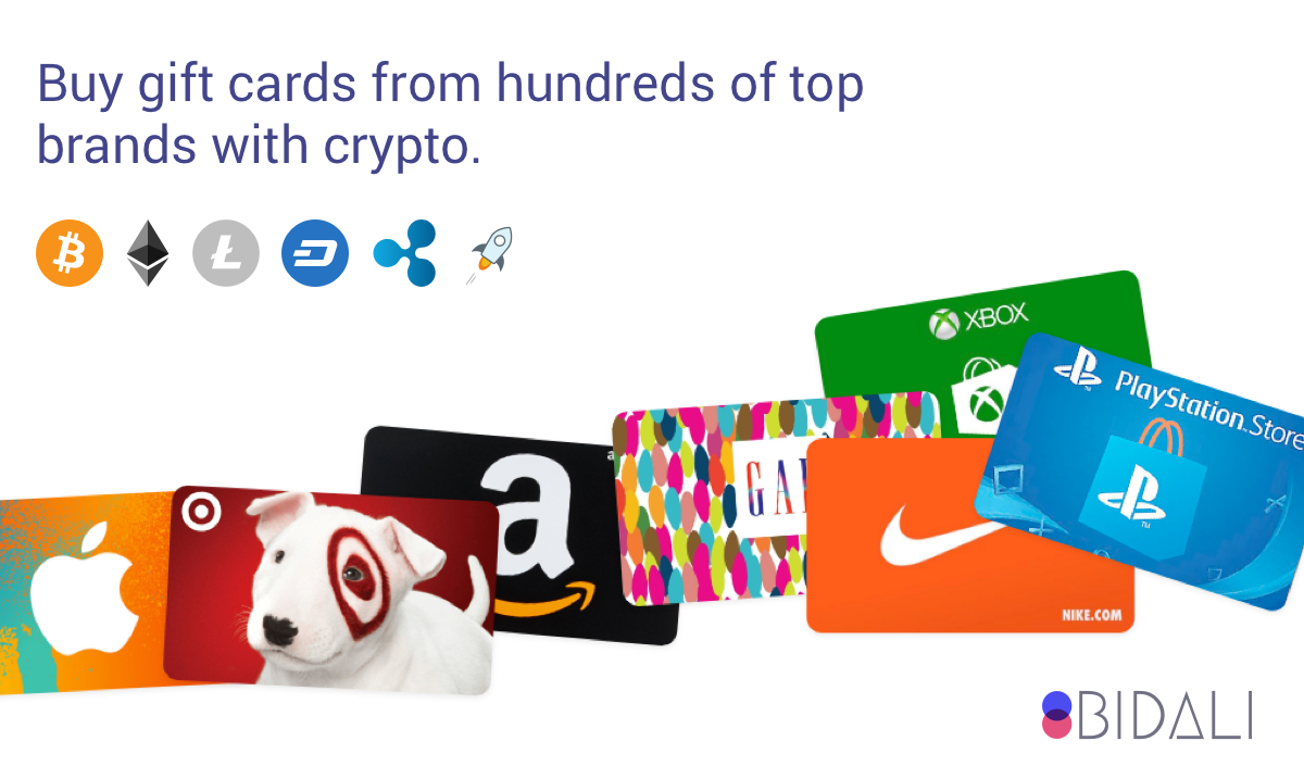 Bidali giftcards