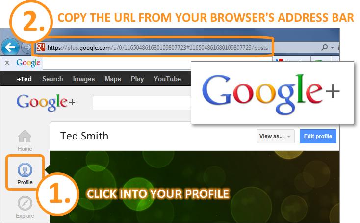 Email Signature - Get Google+ URL