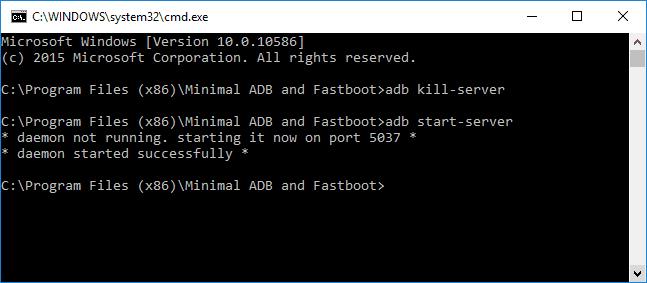 Restart ADB Server