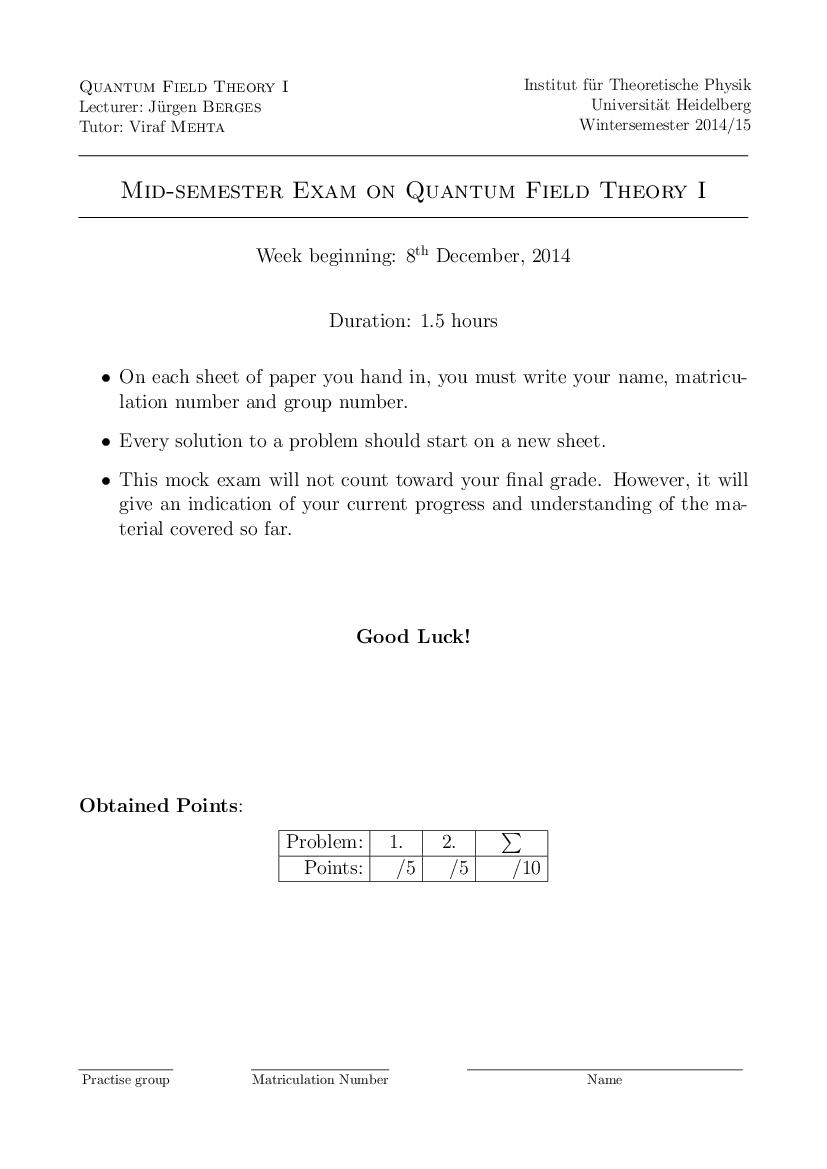 Berges midterm exam