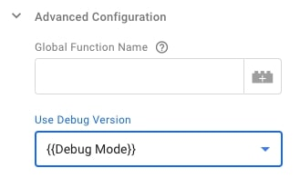 Settings in Google Analytics with activated debugging via variable