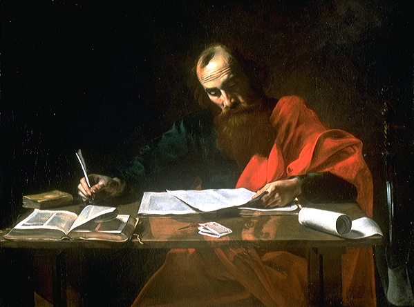 St. Paul Writing An Epistle