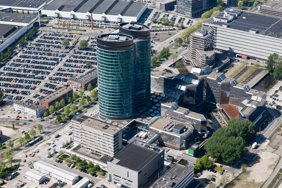 Panoramic view of the Rabobank Tower
