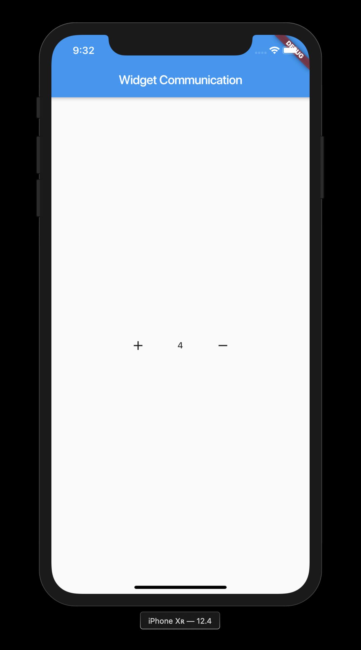 Widget communication