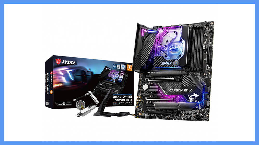 The MPG Z490 Carbon EK X motherboard by MSI, Announced