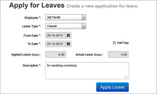 Apply For Leaves