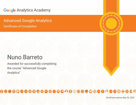 Certificado Advanced Google Analytics