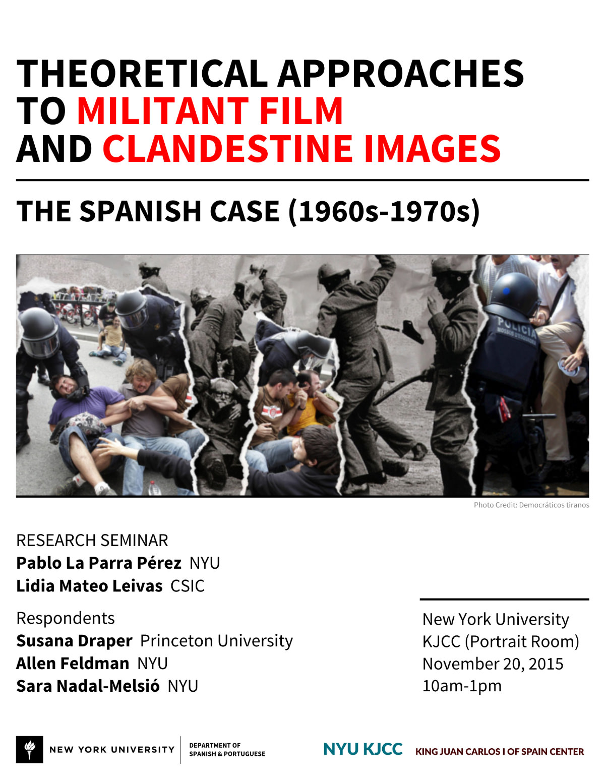 Theoretical Approaches to Militant and Clandestine Images