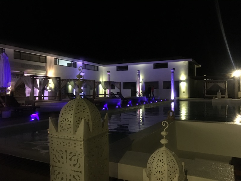 Pool at Budha, at night