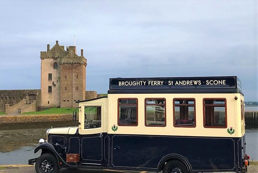 Henry at Broughty Ferry castle