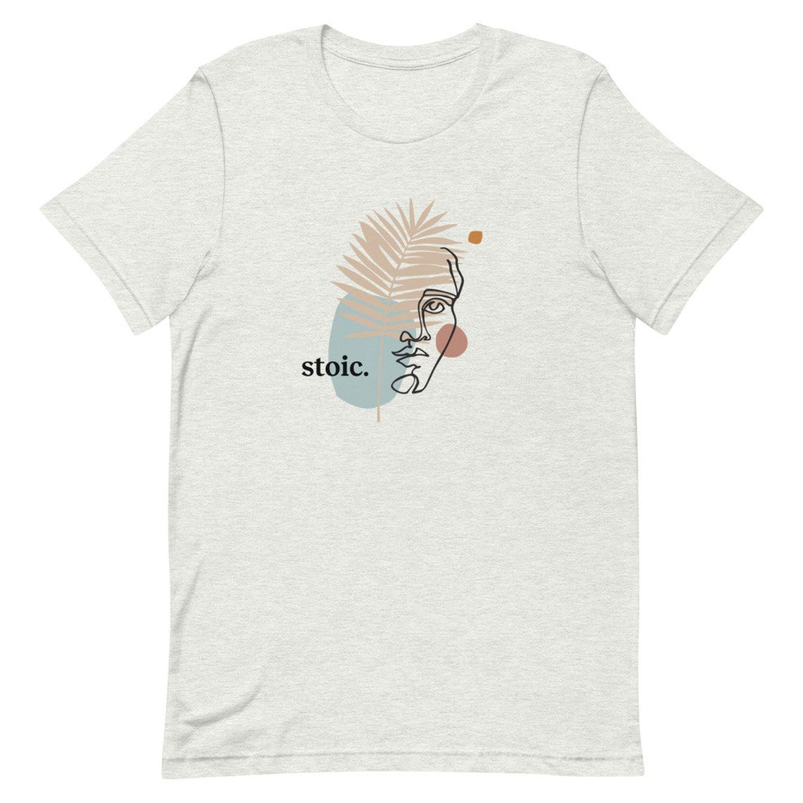 Abstract drawing of a face on a tshirt
