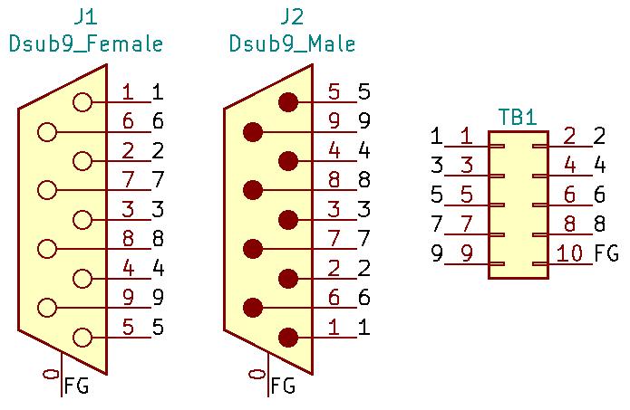 DE9MF-TB2X5の回路図