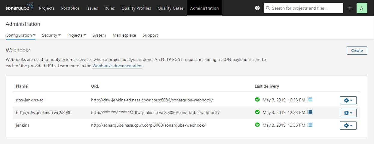 SonarQube Webhook Setup