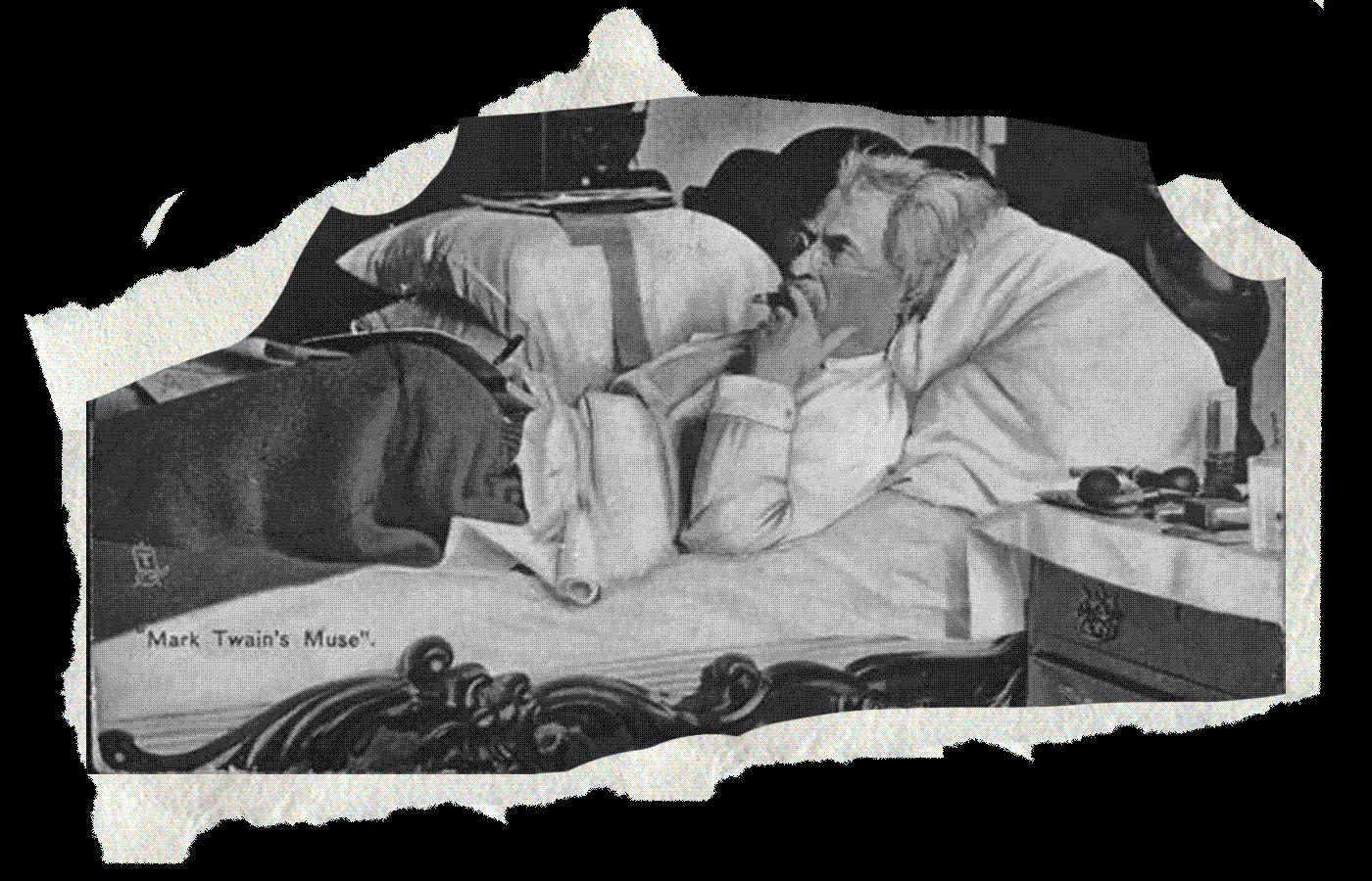 Марк Твен. Иллюстрация: Букмейт. Фото: University of Virginia Mark Twain Print Collection