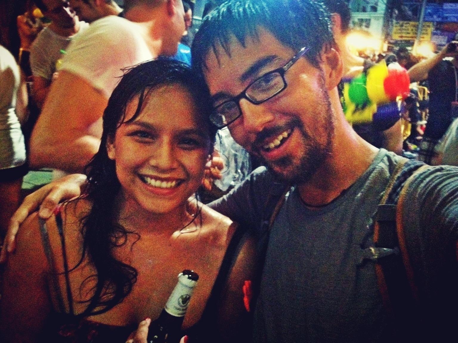 Raquel and Benjamin on Khao San Road