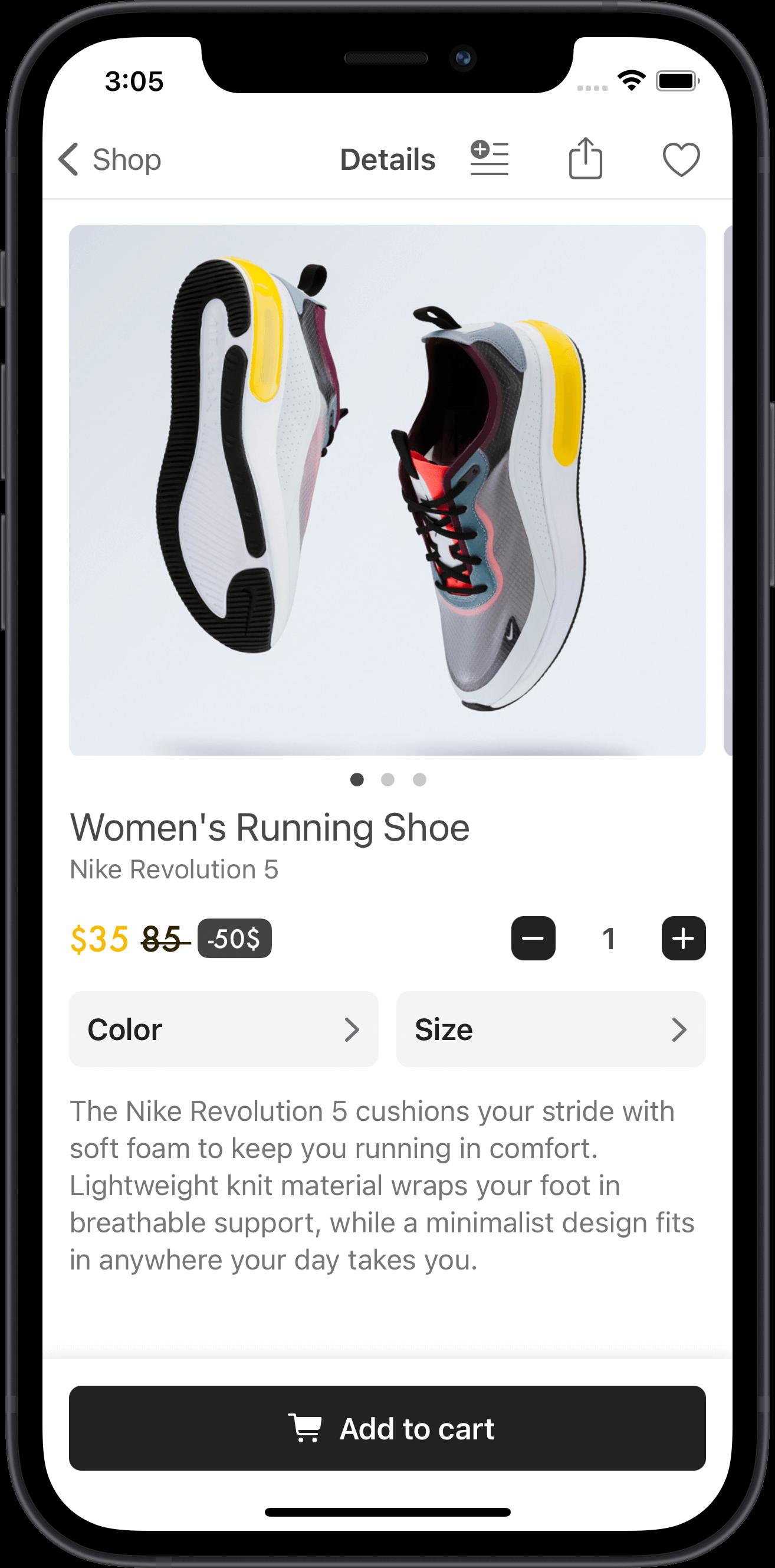 e-commerce, men, running shoes, nike