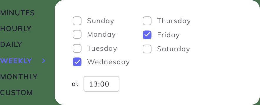 SimpleBackups custom schedule