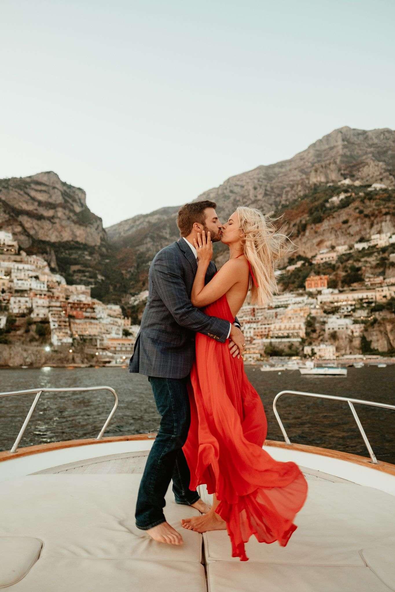 Wedding proposal in Positano