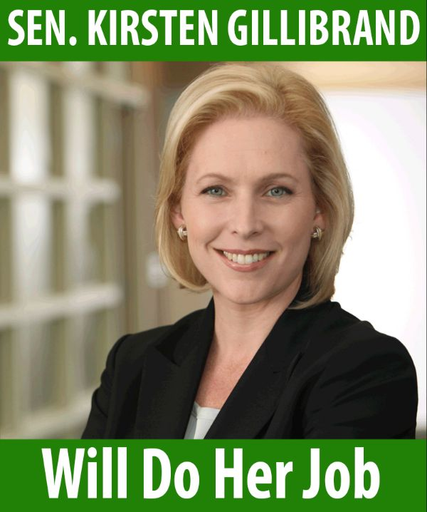 Senator Gillibrand will do her job!
