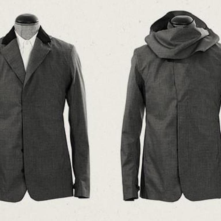 Tailored rain jacket