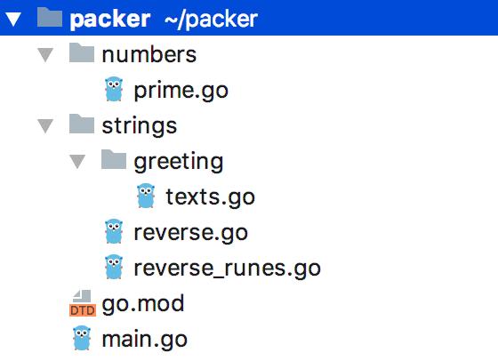 Go custom package organization in Workspace