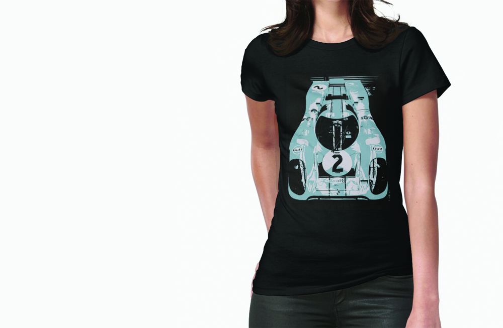 Porsche 917K Fitted T-Shirt by thespeedart