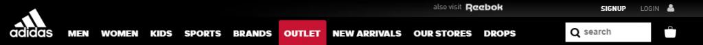 Nike Navigation menu