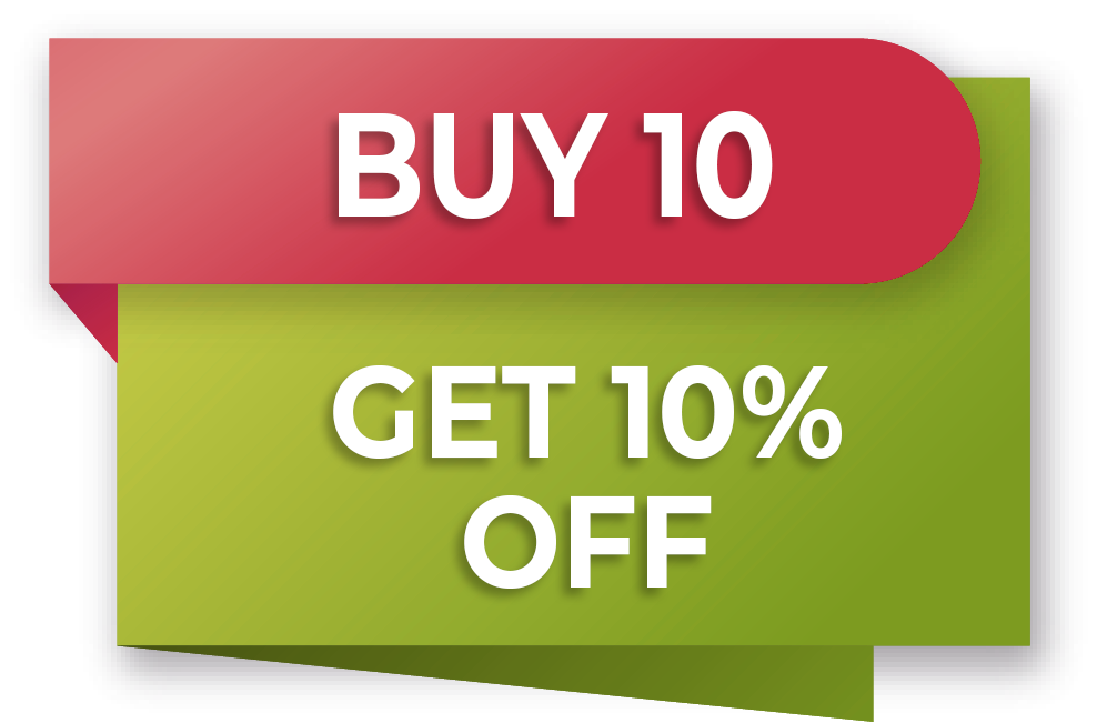 PROMOTION 'Buy 10 pieces and save 10%'