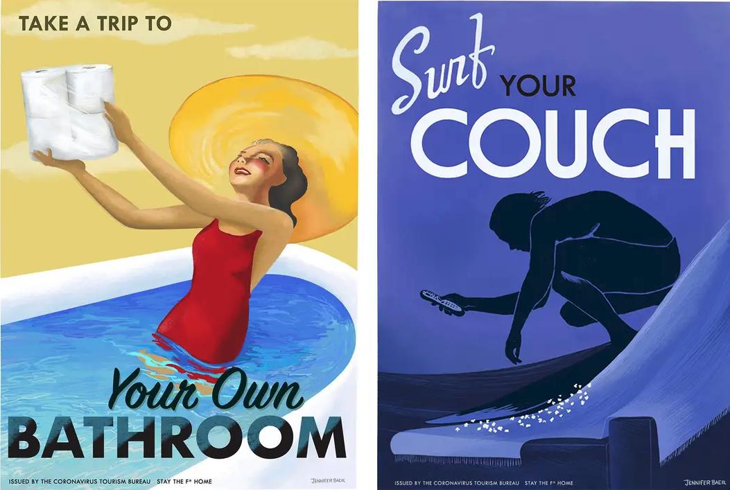 quarantine travel posters