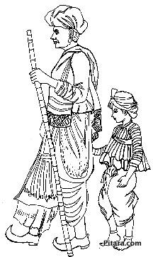 Rajasthani man and boy