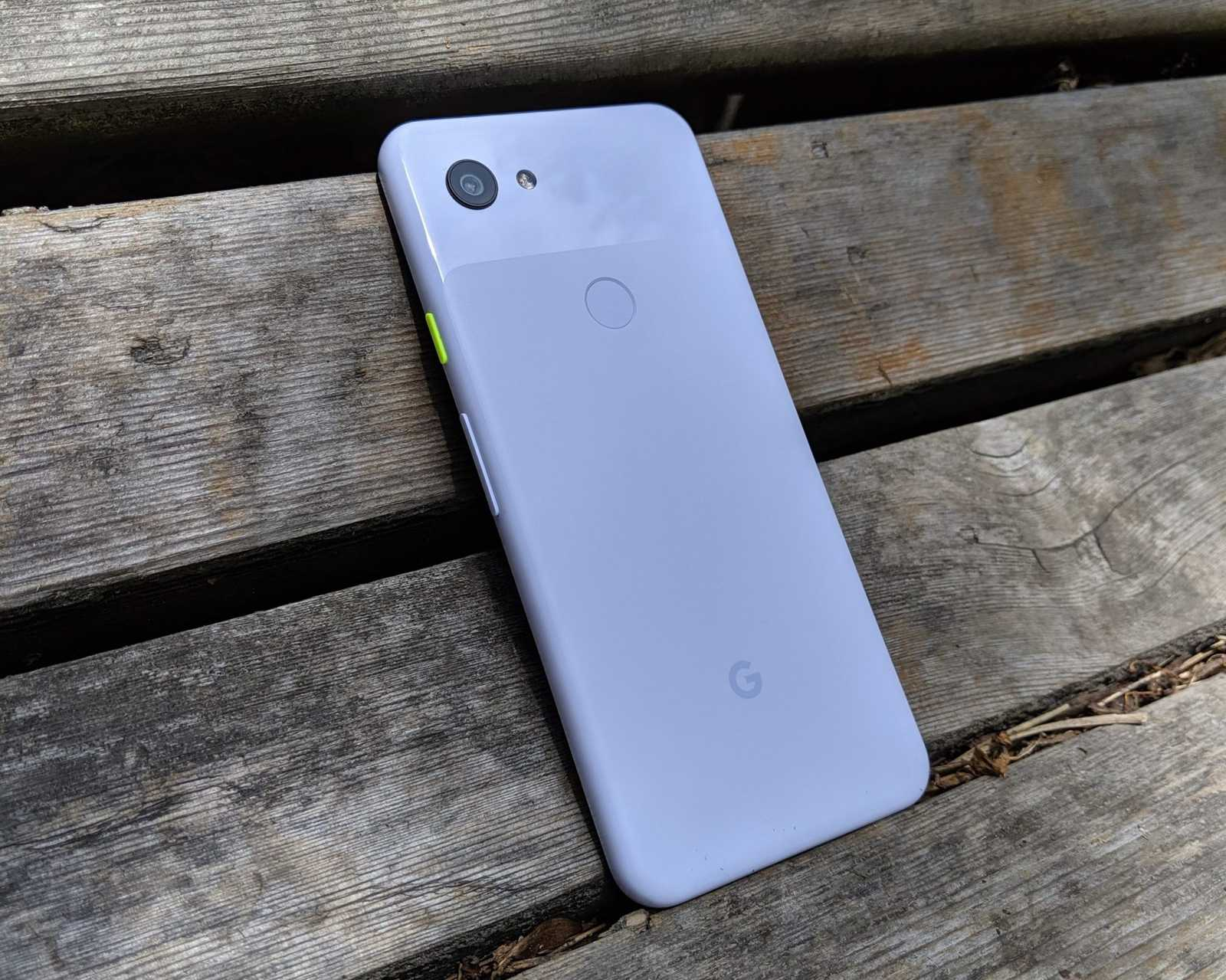 The back side of a Pixel 3A in purple