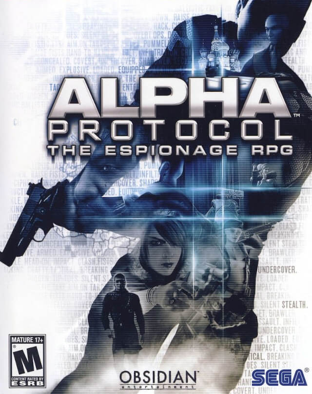 The box art for Alpha Protocol on the PC