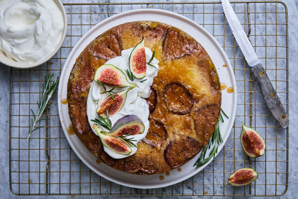 Fig Rosemary Upside Down Cake
