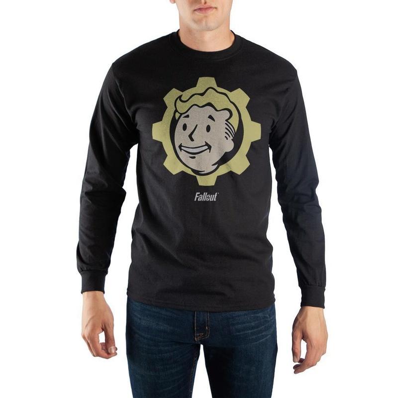 Fallout Black Long Sleeve Vault Boy T-Shirt