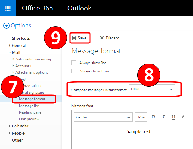 Outlook Attachment Red Circle