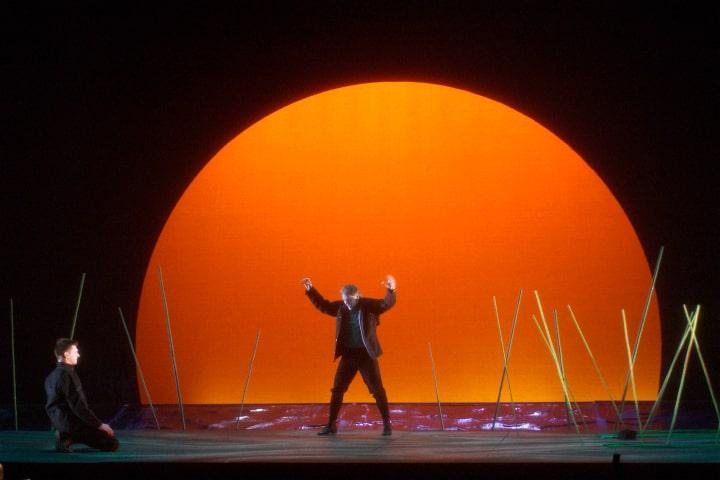 "Robert Thomson's lighting design for Pacific Opera Victoria's production of ""Wozzeck""."