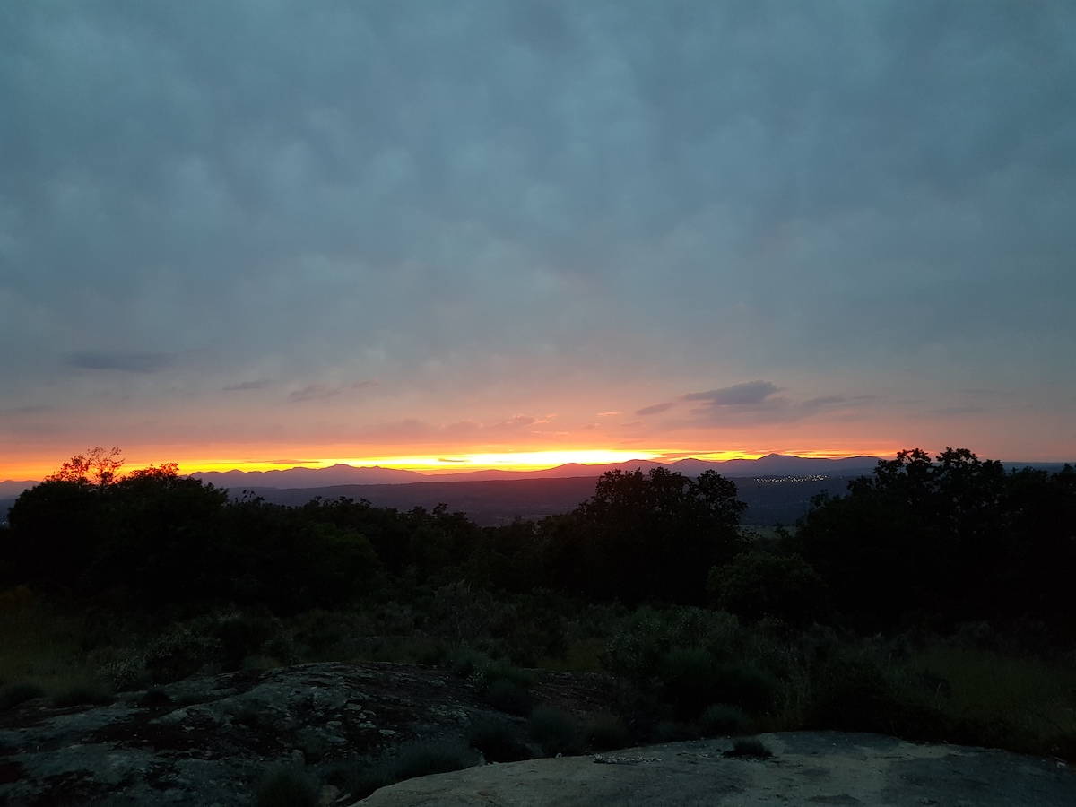 Puesta de sol en la Sierra de Béjar