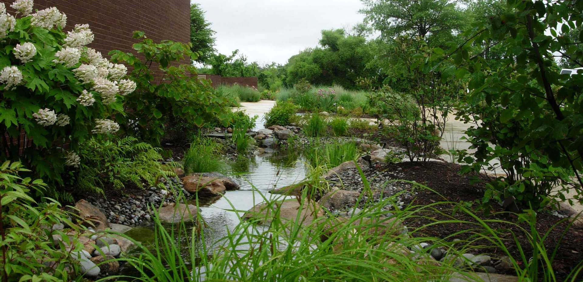 small river flowing through landsacape