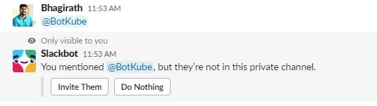 Add BotKube App as a User on Slack Channel